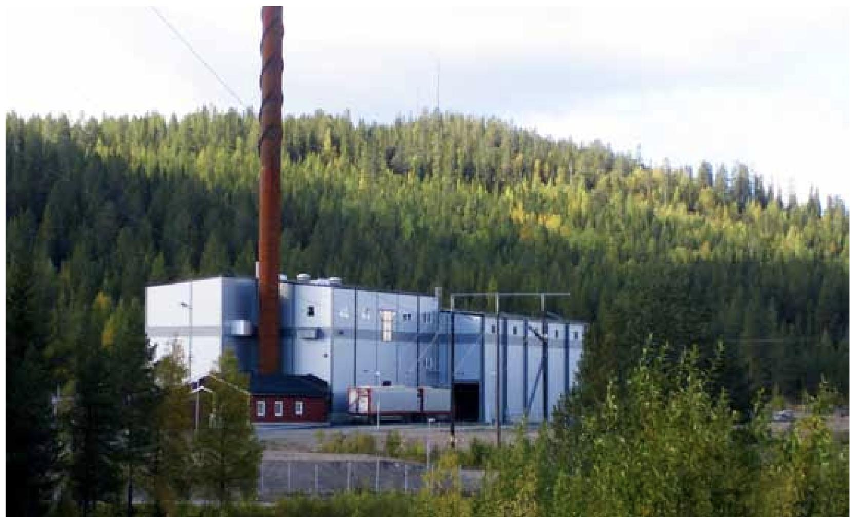 En ny biobränsledriven fjärrvärmepanna i Arvidsjaur